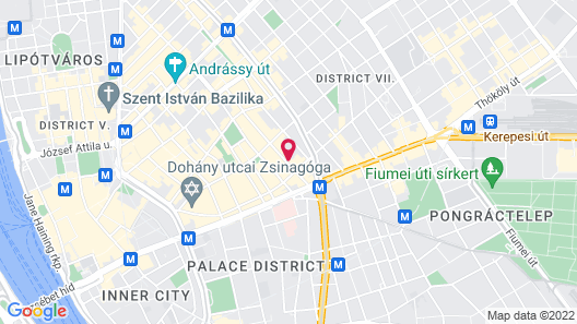 Budapest Holidays Downtown Map