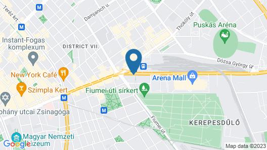 Hotel Golden Park Budapest Map