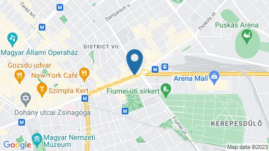 Danubius Hotel Hungaria City Center Map