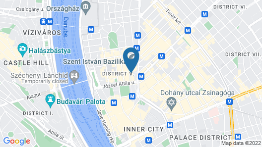 Aria Hotel Budapest by Library Hotel Collection Map