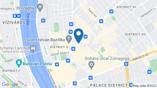 Hotel Moments Budapest Map