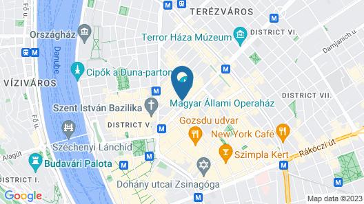 K+K Hotel Opera Budapest Map