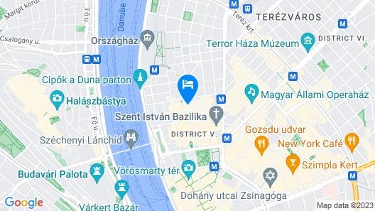 Iberostar Grand Budapest Map