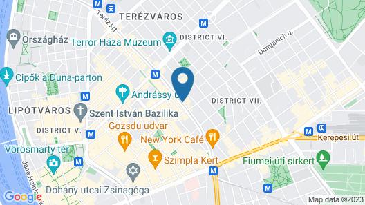 Corinthia Budapest Map