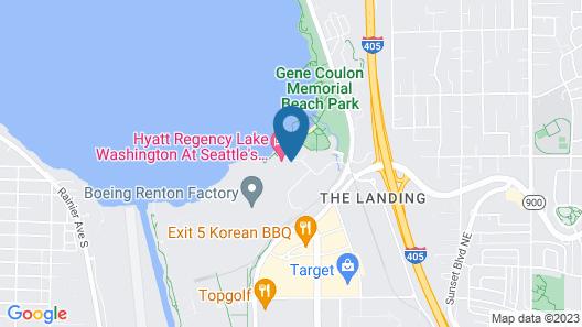 Hyatt Regency Lake Washington at Seattle's Southport Map