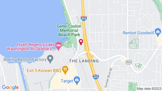 Hampton Inn and Suites Seattle/Renton Map