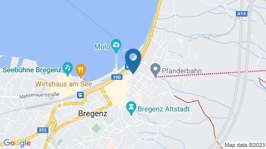 Hotel Garni Bodensee Map