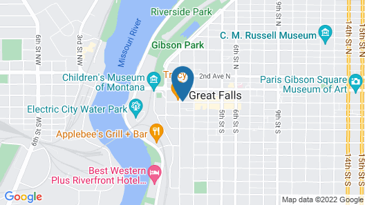 Travelodge by Wyndham Great Falls Map