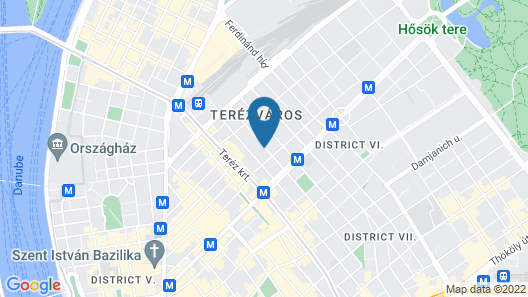 Serenity Boutique Budapest Map