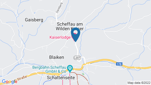 Hotel Kaiser in Tirol - All Inclusive Map