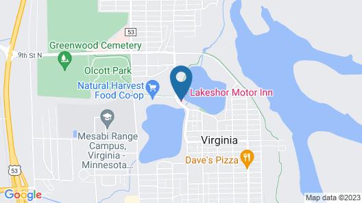 Lakeshor Motor Inn Map