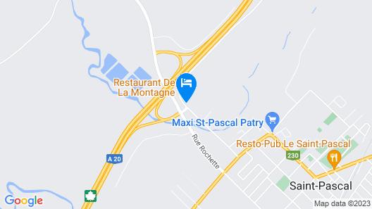 Hotel Motel de la Montagne Map