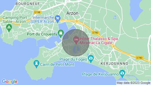Apartment With Pool Gulf of Morbihan Map