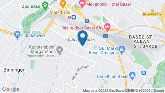 Basel Charme Apartments Map