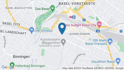 Hyve Hostel Basel Map