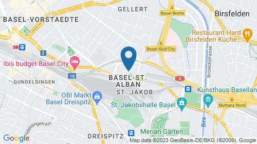B&B Hotel Basel Map