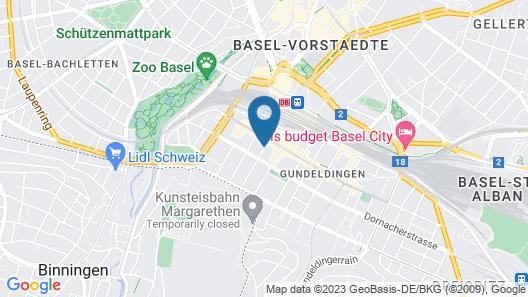Hyve Hotel Basel Map