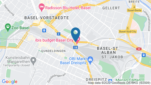 ibis budget Basel City Map