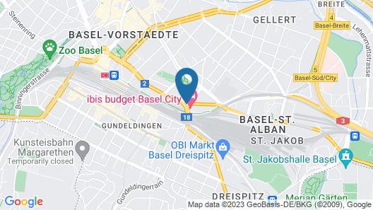 ibis budget Basel City Map