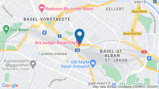 Novotel Basel City Map