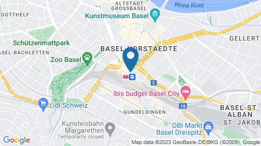 Hotel Metropol Basel Map