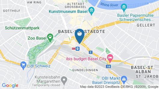 Hotel Schweizerhof Basel Map