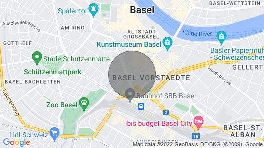 Basel City Center Studio Map