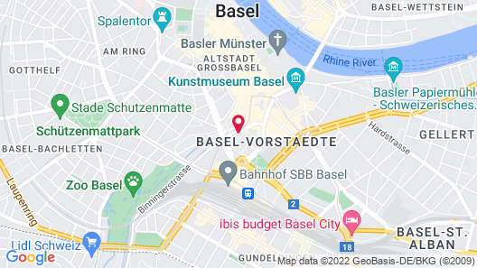Radisson Blu Hotel, Basel Map