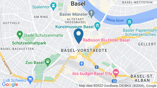 Radisson Blu Hotel, Basel Map