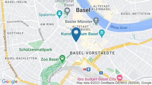 Steinenschanze Stadthotel Map