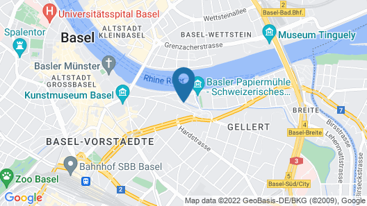 Youth Hostel Basel Map