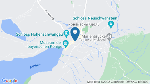 Hotel Müller Hohenschwangau Map