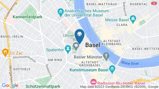 Hotel Rochat Basel Map