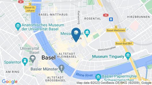 Hotel Rheinfelderhof Map
