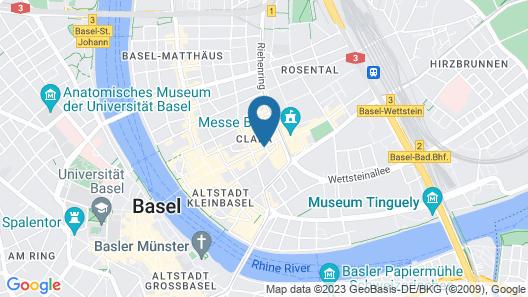 Pullman Basel Europe Map