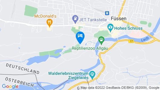 Parkhotel Bad Faulenbach Map