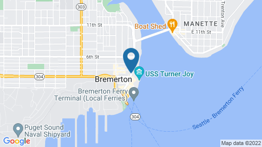 Fairfield Inn & Suites Seattle Bremerton Map