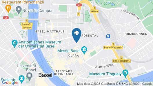 easyHotel Basel Map