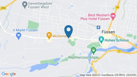 Rote Villa Füssen Map