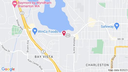 Quality Inn & Suites Bremerton near Naval Shipyard Map
