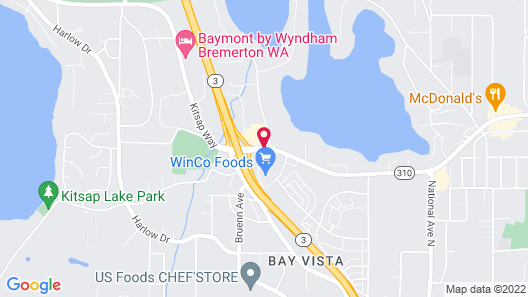 Super 8 by Wyndham Bremerton Map