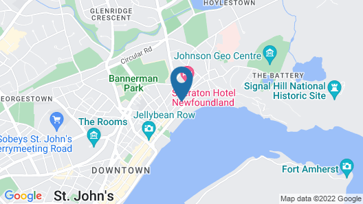 DoubleTree by Hilton St. John's Habourview Map