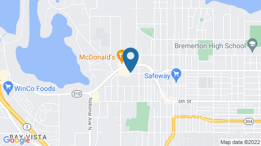 Motel 6 Bremerton, WA Map