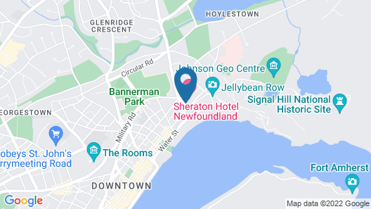 Sheraton Hotel Newfoundland Map