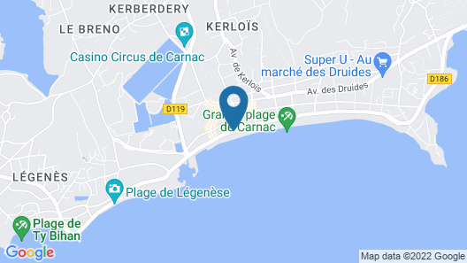 Le Diana Hotel and Spa NUXE Map