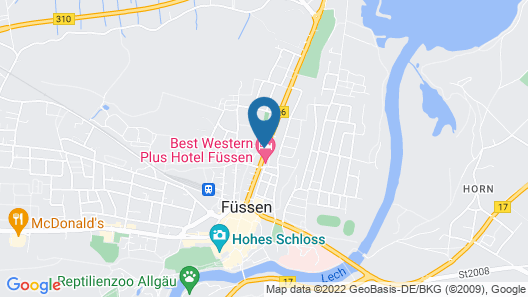 Best Western Plus Hotel Fuessen Map