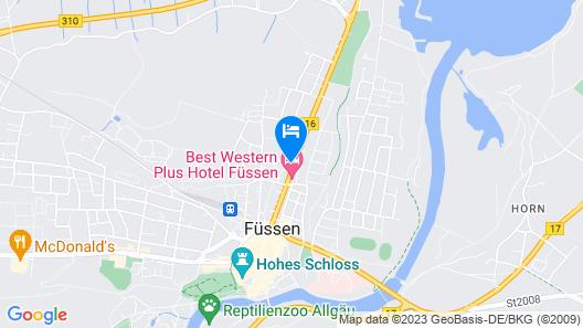 Best Western Plus Hotel Fuessen Map