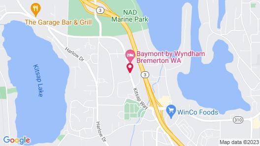 Baymont by Wyndham Bremerton WA Map