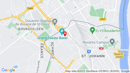 Airport Hotel Basel Map