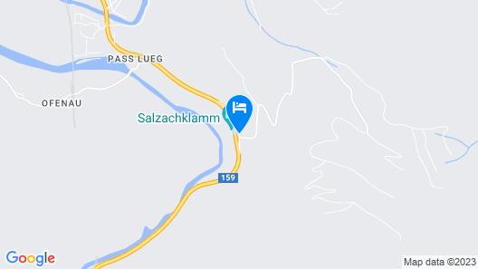 Hotel Pass Lueg  Map